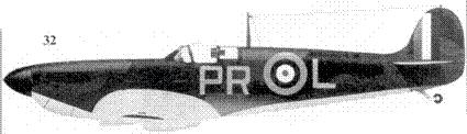 32. Mk I P9322/PR-L пайлот-офицера Дэвида Крука, 609-я эскадрилья, Миддл-Уаллоп, июль 1940г.