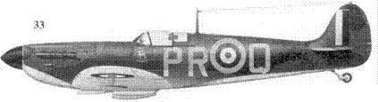 33. Mk I R6690/PR-Q флэг-офицера Джона Дандэса, 609-я эскадрилья, Миддл-Уаллоп, июль 1940г.