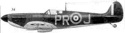 34.MkI R6691/PR-J флайт-лейтенан-та Фрэнка Хоуелла, 609-я эскадрилья, Миддл-Уаллоп, август 1940г.