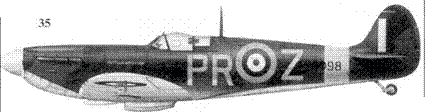 35. Mk IIА P8098/PR-Z ENFIELD SPITFIRE флайт-лейтенанта Джона Карчина, 609-я эскадрилья, Биггин-Хилл, май 1941г.