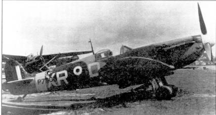 «Спитфайр Mk II» Р7308 из 71-й эскадрильи, Хаукинг, 27 августа 1941г. На этом самолете пайлот-офицер Уилям Дани в этот день сбил два Bf 109F, став первым американским асом второй мировой войны.
