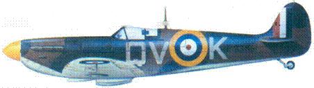 Mk I P9386/QV-K скуадрон лидера Брайана Лэйна, Фоулмир, сентябрь 1940г.