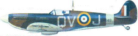 Mk IIА P7849/QV-J флайт-лейтеннанта Вальтера Лоусона, июнь 1941г.