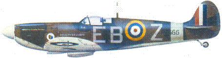 Mk IIА Р7666/ЕВ-Z скуадрон лидера Дональда Финли. ноябрь 1940г.