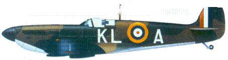 Mk I Р9389/КL-А скуадрон-лидера Джеймса Литхэрта, май 1940г.