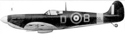 1. Mk IIA P7966/D-B командира Тэнгмирского крыла уинг-коммендера Дугласа Бадера, март 1941г.