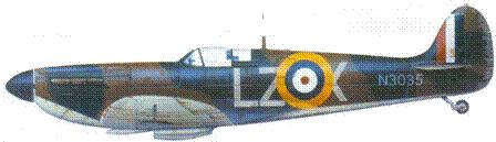 Mk 1 V3035/LZ-X пайлот-офицера Хаберта Аллена, сентябрь 1940г.