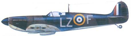 Mk I X4321/LZ-F пайлот-офицера Крелина «Богли» Боди. сентябрь 1940г.