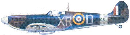 Mk IIA P7308/XR-D пайлот-офицера Уильяма Данна, август 1941г.