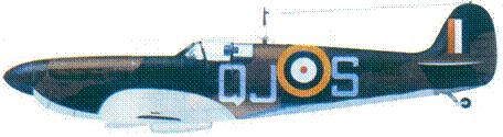 Mk I R6596/QJ-S пайлот-офицера Алана Райта, август 1940г.