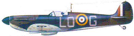 Mk I X4382/LO-G пайлот-офицера Осгуда Ханбари, сентябрь 1940г.