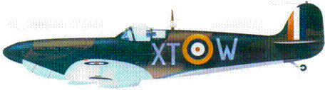 Mk I R6835/XT-VV флэг-офицера Брайана Карбари, август 1940г.