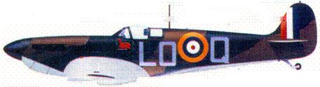 Mk I L1004/LO-Q скуадрон-лидера Александра «Санди» Джонстона, июнь 1940г