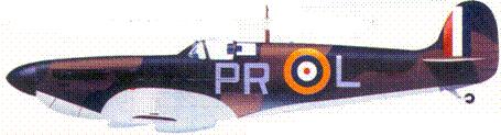 Mk I P9322/PR-I. пайлот-офицера Дэвида Крука, июль 1940г.