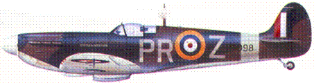 Mk IIА P8098/PR-Z ENFIKLD SPITFIRE флайт-лейтенанта Джона Карчина, май 1941г.