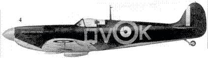 4. Mk I P9386/QV-K командира 19-й эскадрильи скуадрон лидера Брайана Лэйна, Фоулмир, сентябрь 1940г.