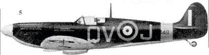 5.Mk IIA P7849/QV-J флайт-лейтенанта Вальтера Лоусона, 19-я эскадрилья. Фоулмир, июнь 1941г.