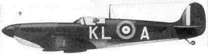 9.Mk I P9389/KL-A командира 54-й эскадрильи скуадрон-лидера Джеймса Литхэрта, Хорнчарч, май 1940г.