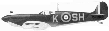 10.Mk I P9554/K-SH пайлот-офицера Джеймса О'Мира, 64-я эскадрилья. Кинли, август 1940г.