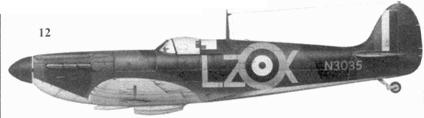 12.Mk I N3035/LZ-X пайлот-офицера Хаберта Аллена, 66-я эскадрилья, Кинли, сентябрь 1940г.