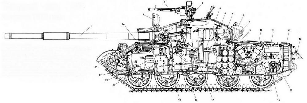 Средний танк Т-62 выпуска 1972 года