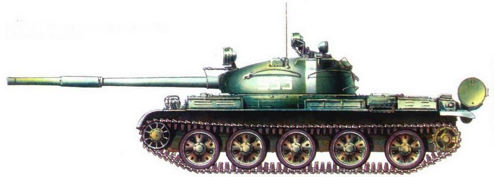Танк Т-62 одной из частей Советской Армии, Прага, август 1968 г.