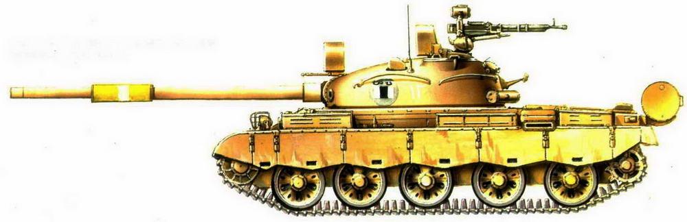 Танк Т-62. 3-я танковая дивизия «Саладин» иракской армии, 1991 г.