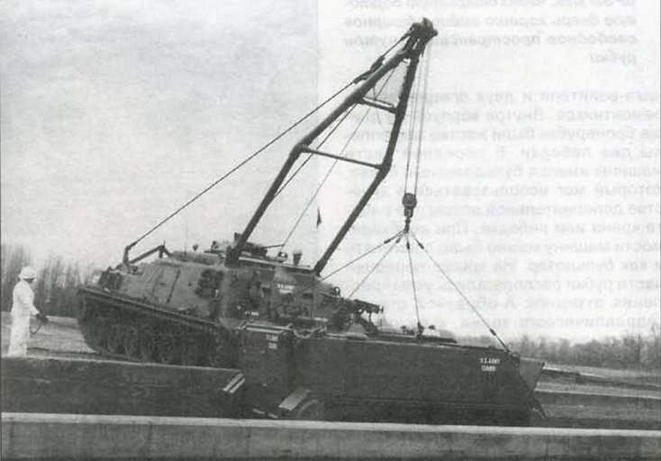 Демонстрация возможностей кранового оборудования БРЭМ Т88 на Абердинском полигоне. Весна 1959 года