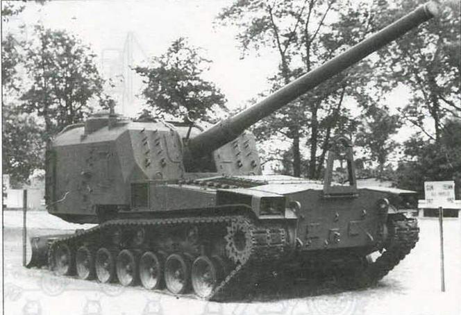 Самоходно-артиллерийская установка М53 в экспозиции музея на Абердинском полигоне
