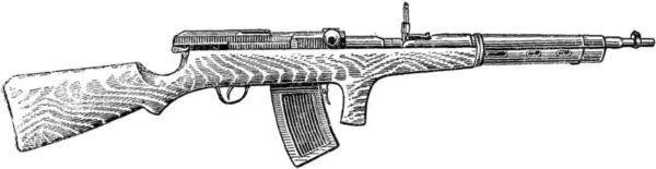 Первые образцы автоматических винтовок