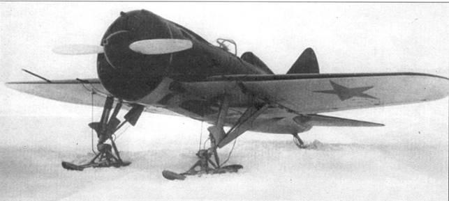 Истребитель И-16 тип 10, вид 3/4 справа спереди.