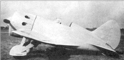 Захваченный японцами истребитель И-16.