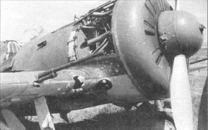 И-16 тип 27, хорошо видна крыльевая 20-мм пушка ШВАК.