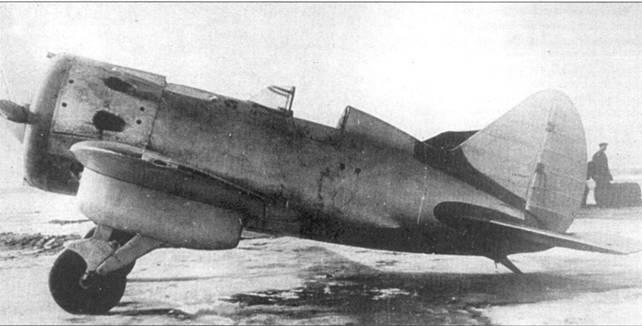 И-16 тип 20 с двигателем М-25, обратите внимание на подкрыльевой дополнительный топливный бак.