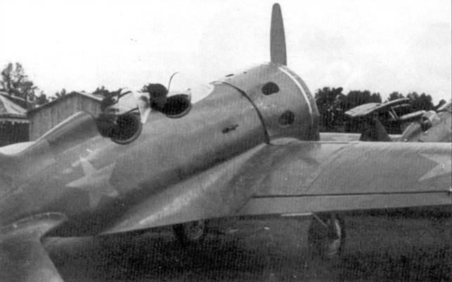 Самолет УТИ-4, захваченный германскими войсками летом 1941 г.