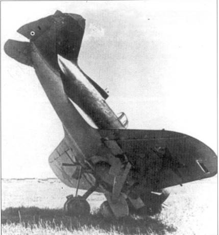 При посадке И-16 встал на нос, Южный фронт, лето 1941 г.