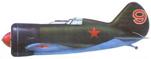И-16 тип 5 одного из подразделений ВВС Балтийского флота. 1939-1940 г.г.