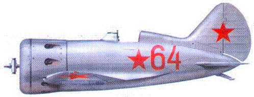 И-16, захваченный финнами в конце 1941 г. В составе ВВС Финляндии самолет получил идентификационный код «IR-104»