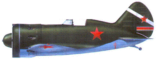 И-16 тип 24 13-й отдельной авиационной, эскадрильи ВВС Балтийского флота, лето 1941 г.