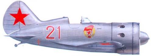 И-16 тип 24 (заводской номер 2421321) сержанта Г.Д. Цоколаева из 4-го гвардейского истребительного авиационного полка ВВС Балтийского флота, зима-весна 1942 г.