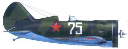 И-16 тип 29 сержанта В.П. Сагалаева из 71-го истребительного авиационного полка, Ленинградский Фронт, 1941 г.