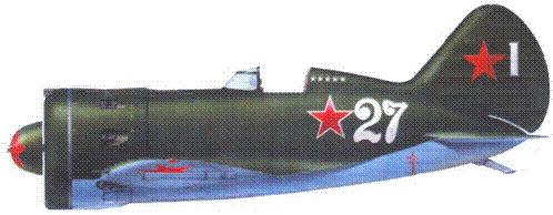 И-16 тип 24 лейтенанта Кричевского из 254-го истребительного авиационного полка. Ленинградский фронт. Быдгощ, 1943 г.