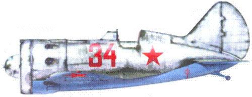 И-16 тип 24 лейтенанта Г.Г. Гурякова из 4-го гвардейского истребительного авиационного полка ВВС Балтийского флота, зима 1941 г. – весна 1942 г.