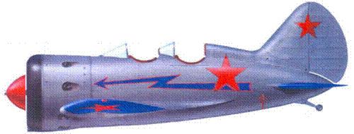 Самолет УТИ-4 из 2-го гвардейского истребительного авиационного полка ВВС Северного флота, лето 1942 г.