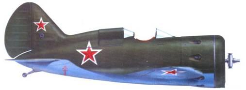 УТИ-4 выпуска завода № 458 из 2-го гвардейского истребительного авиационного полка ВВС Северною флота, 1942 г. Боевой вариант самолета тип 15Б.
