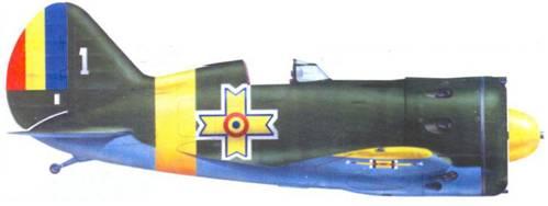 И-16 тип 29 захваченный румынскими войсками летом 1941 г. Самолет перекрашен в цвета ВВС Румынии. «Ишачок» использовался для тpeнировки румынских летчиков воздушному бою.