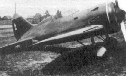 Брошенный на аэродроме истребитель И-16 тип 5, август 1941 г.