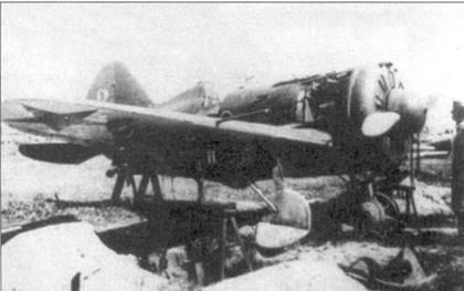 Этот И-16 тип 24 не успели отремонтировать прежде, чем аэродром захватили немецкие войска.