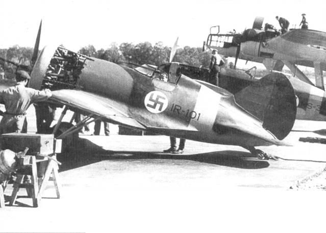 Еще один снимок истребителя И-16 с бортовым идентификационным кодом «VH-201».