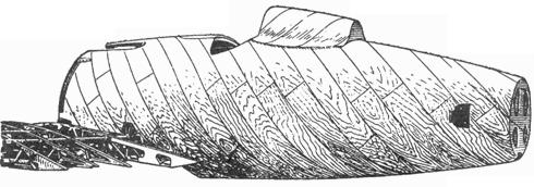Обшивка фюзеляжа выполнялась из березового шпона.